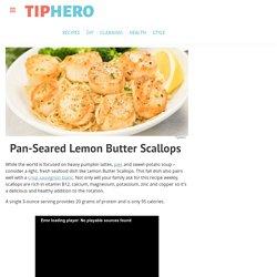 Lemon Butter Scallops Recipe & Video