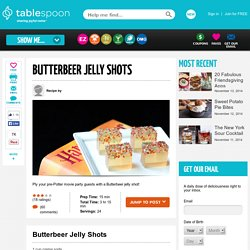 Butterbeer Jelly Shots