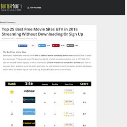 The Top 25 Sites to Watch Free Movies and TV Online ~ ButterBlog