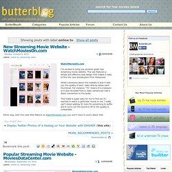 ButterBlog: online tv