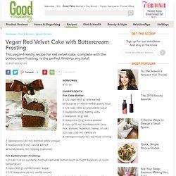 Vegan Cake Recipe - Red Velvet Cake with Buttercream Frosting