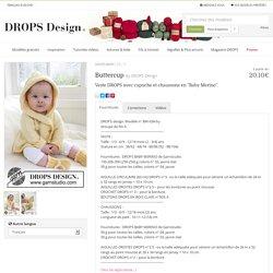 """Buttercup / DROPS Baby 21-1 - Veste DROPS avec capuche et chaussons en """"Baby Merino"""". - Free pattern by DROPS Design"""