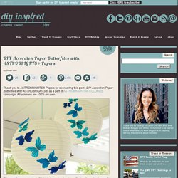 DIY Accordion Paper Butterflies with ASTROBRIGHTS® Papers