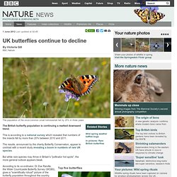 BBC Nature - UK butterflies continue to decline