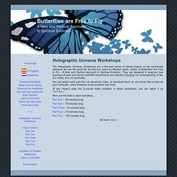 Butterflies are Free to Fly: Holographic Universe Workshops