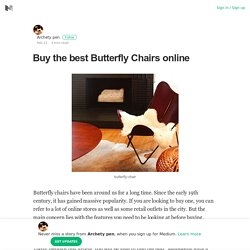Butterfly Chairs online