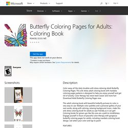 Butterfly Coloring Pages for Adults: Coloring Book