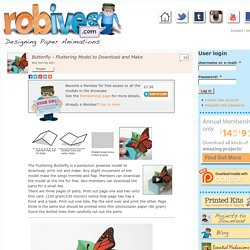 Butterfly - Fluttering Model to Download and Make