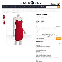 Nicole Miller red jersey butterfly pleated halter dress at Bluefly