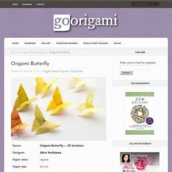 Origami Butterfly by Akira Yoshizawa - tutorial