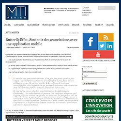 ButterflyEffet, Soutenir des association avec une application mobile