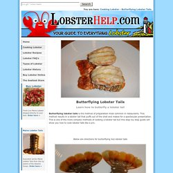 Butterflying Lobster Tails - Learn How to Butterfly a Lobster Tails