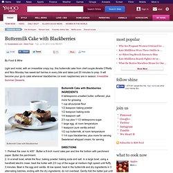 Buttermilk Cake with Blackberries | Shine Food