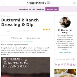 Buttermilk Ranch Dressing & Dip