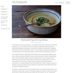 Buttermilk Squash Soup Recipe