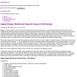 Apple Ginger Butternut Squash Soup–A Fall Recipe - Cooking Curries