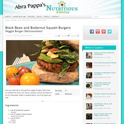 Black Bean and Butternut Squash Burgers Recipe