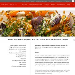 Roast butternut squash and red onion with tahini and za'atar I Ottolenghi recipes
