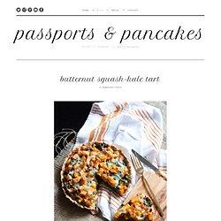butternut squash-kale tart — passports & pancakes