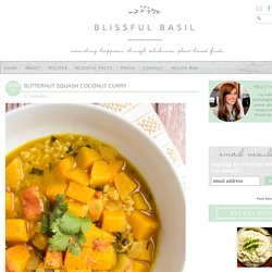 Butternut Squash Coconut Curry