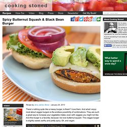 Spicy Butternut Squash & Black Bean Burger - Vegan Recipe
