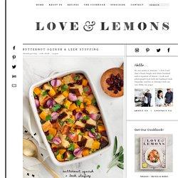 Butternut Squash & Leek Stuffing Recipe