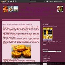 Muffins salés à la courge butternut, noisette et parmesan - Les marmitons de Tournefeuille