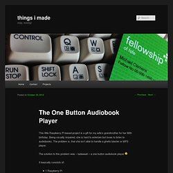 The One Button Audiobook Player