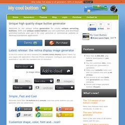 Web 2.0 free buttons maker! - (Custom icon font and background,