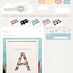 Button Monogram « Spearmint Baby
