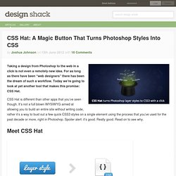 CSS Hat: A Magic Button That Turns Photoshop Styles Into CSS