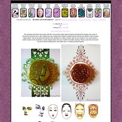 Button art doll face UM rubber stamps, dolls faces and wax seals for envelopes