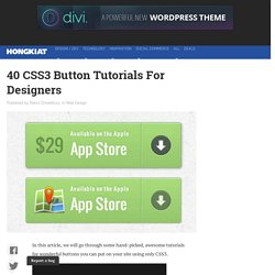40 CSS3 Button Tutorials For Designers