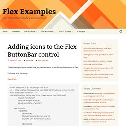 Adding icons to the Flex ButtonBar control