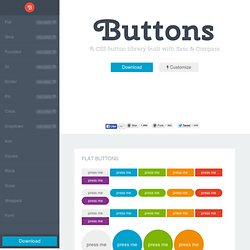 Buttons - A CSS button library built with Sass and Compass
