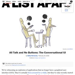 All Talk and No Buttons: The Conversational UI · An A List Apart Article