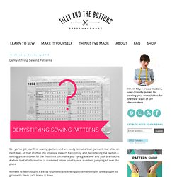 Demystifying Sewing Patterns