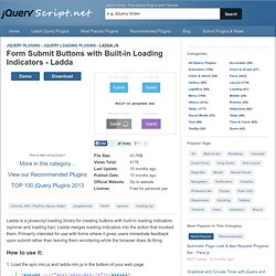 Form Submit Buttons with Built-in Loading Indicators - Ladda