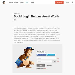 Social Login Buttons Aren't Worth It