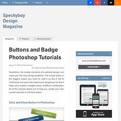 30 Useful Photoshop Buttons and Badges Tutorials