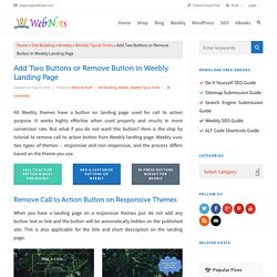 Add Two Buttons or Remove Button in Weebly Landing Page » WebNots