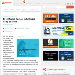 Free Zocial Button Set: Social CSS3 Buttons