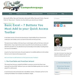 Basic Excel - 7 Buttons You Must Add to your Quick Access Toolbar - Computergaga Blog
