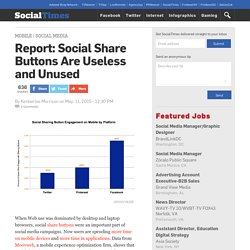 Report: Social Share Buttons Are Useless and Unused