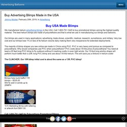 Buy Advertising Blimps Made in the USA