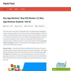 [ # Buy App Reviews Android / iOS #]