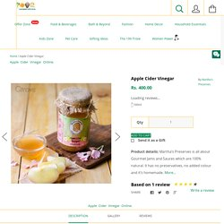 Buy Apple Cider Vinegar Online at Qtrove Only