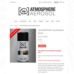 Buy Atmosphere Aerosol in the UK & Europe