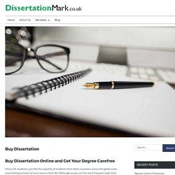 Buy Dissertation Online Here