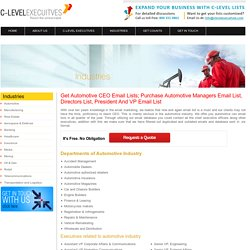 Buy Email List of Automotive CEOs, Automotive CEO Email List